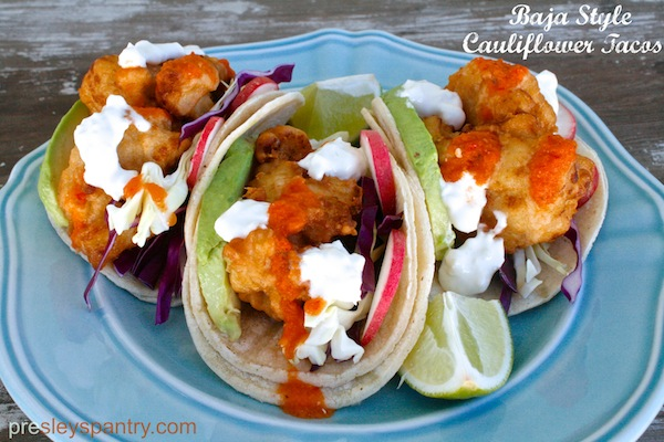 Baja Style (Beer Battered) Cauliflower Tacos