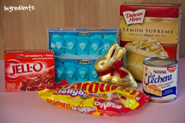 ingredients used to make an Easter trifle