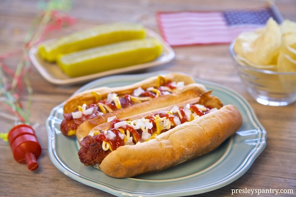 Celebrate the 4th of July with the quintessential Los Angeles bacon wrapped hot dog #WMTMoms