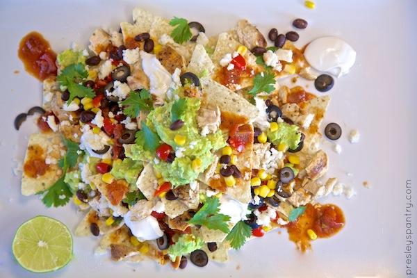 a birdseye view of nachos