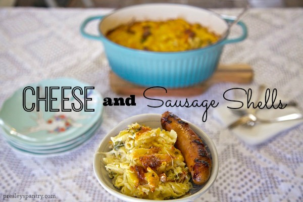 Cheese and Sausage Shells #CookWithSausage