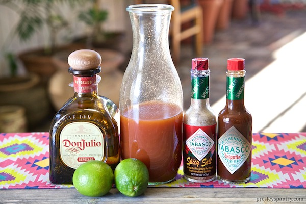 all ingredients needed for sangrita completo