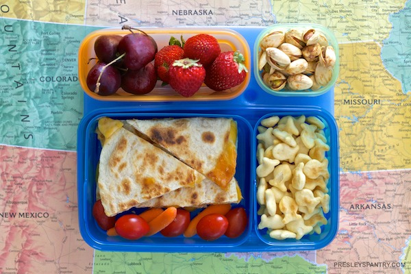 Quesadilla Lunchbox #WMTMoms