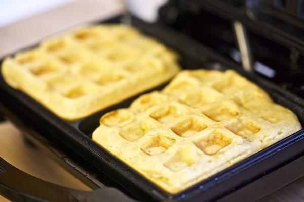 homemade sweet potato waffles