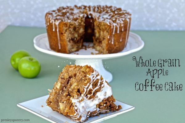 Whole Grain Apple Coffee Cake