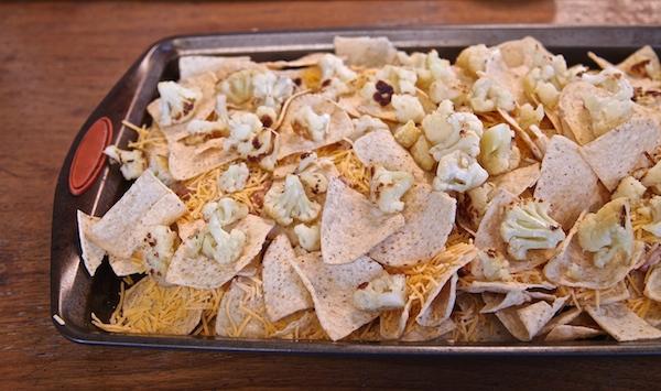 cauliflower tops of nachos