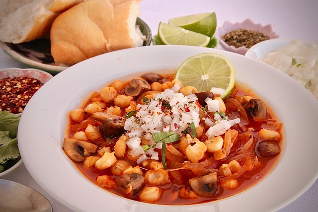 Vegan menudo using mushrooms