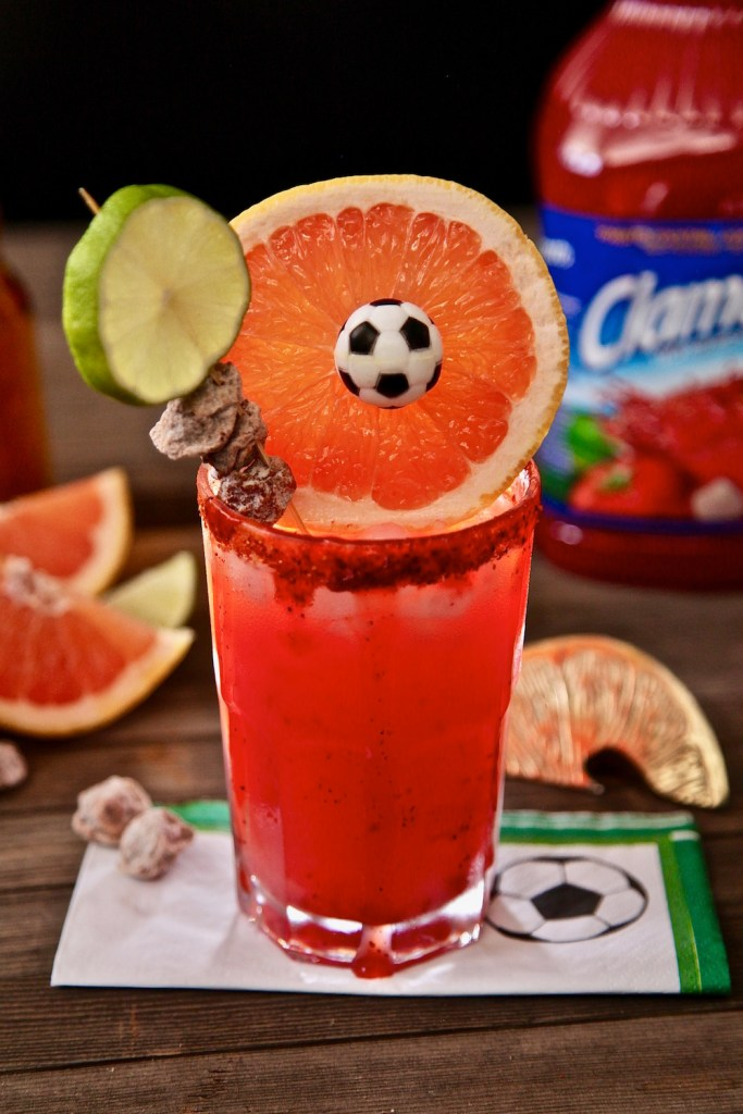 Paloma Michelada made with Clamato