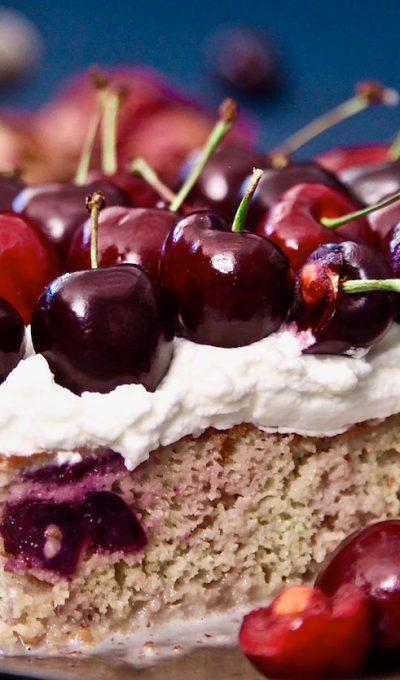 Cherry Tres Leches Cake