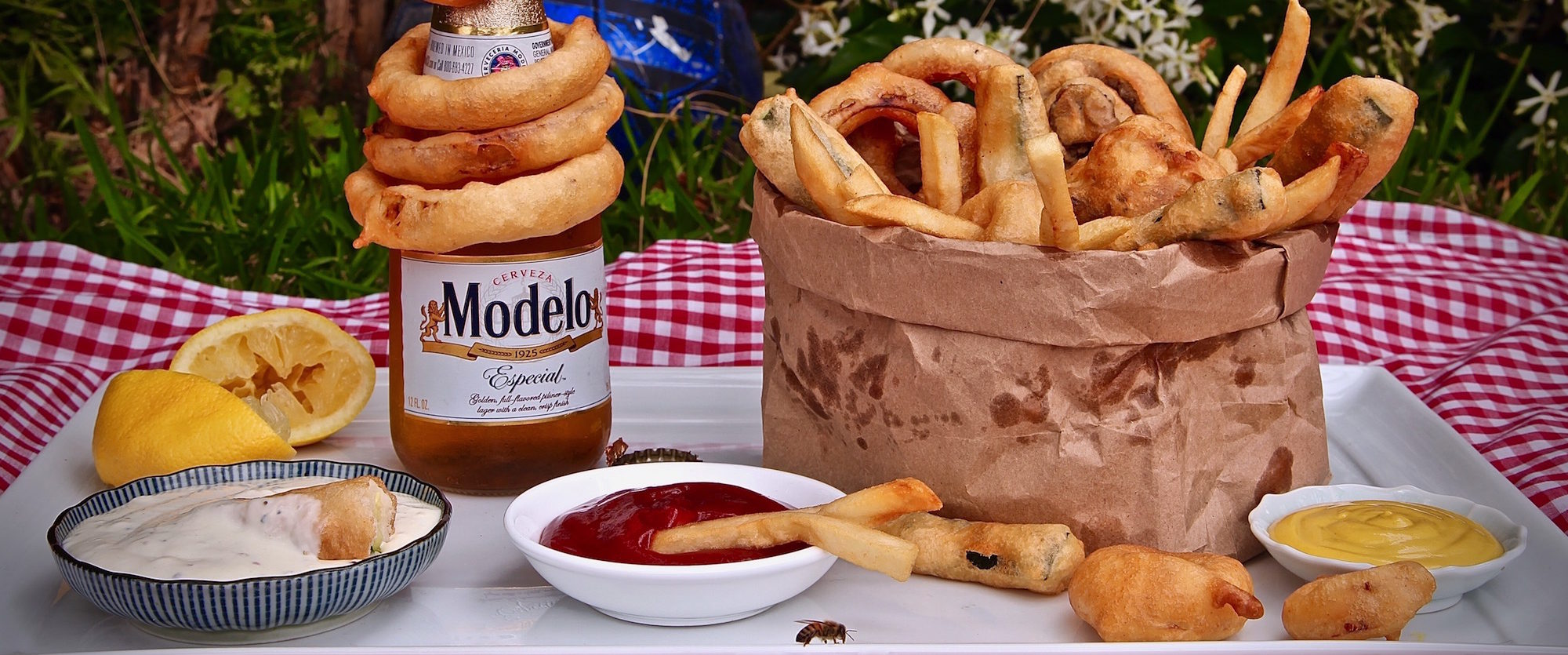 Beer Battered Veggies #ModeloSummer