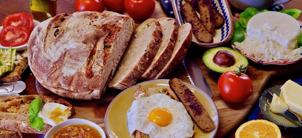 Vegetarian Breakfast Toast Table