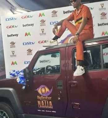 Bbnaija:Watch The Moment Laycon Received His Car (Video)