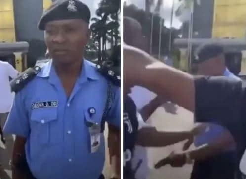 #EndSARS: Shock As DPO Brings Out Pistol To Shoot Protesters In Owerri (Video)