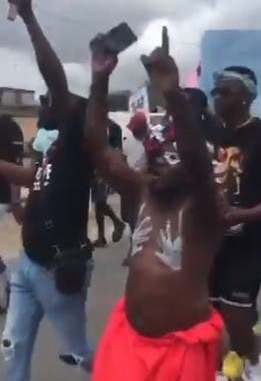 End SWAT in Jesus Name – Native Doctor Chants During Protest In Delta (Video)