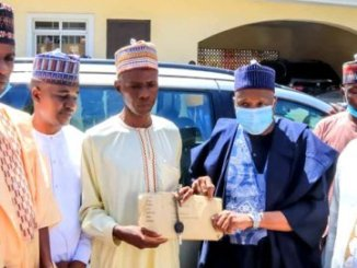 Man Who Developed Leg Problem After Trekking for Buhari, Gets New Car And N2 Million from Governor (Photos)