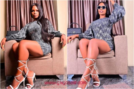 Kaisha shows off impressively toned legs