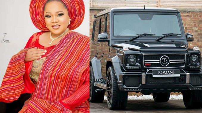 Toyin Abraham acquires Brabus G-Wagon
