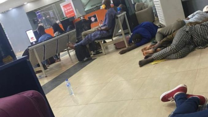 Air Peace Passengers Sleep In Airport After Delayed Flight