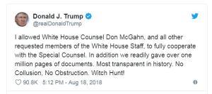 Did Trump Waive Executive Privilege over McGahn's Congressional Testimony?