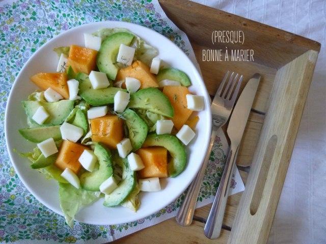 Salade melon avocat