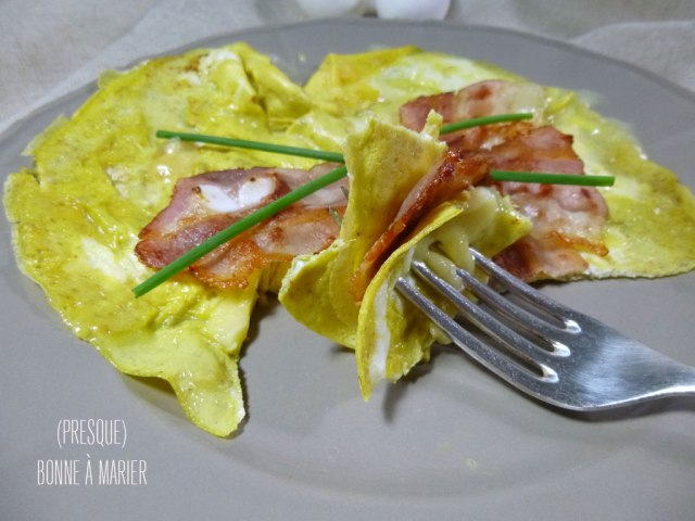 Omelette au munster et au cumin
