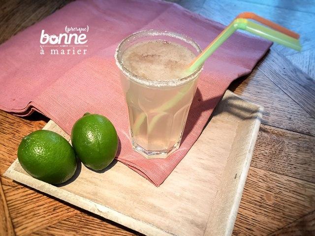 Mocktail hyper frais à l'aloe vera et aux litchis