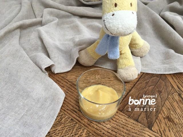 Compote bébé banane nectarine dès 6 mois