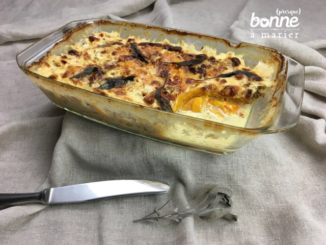 Gratin de butternut à la sauge