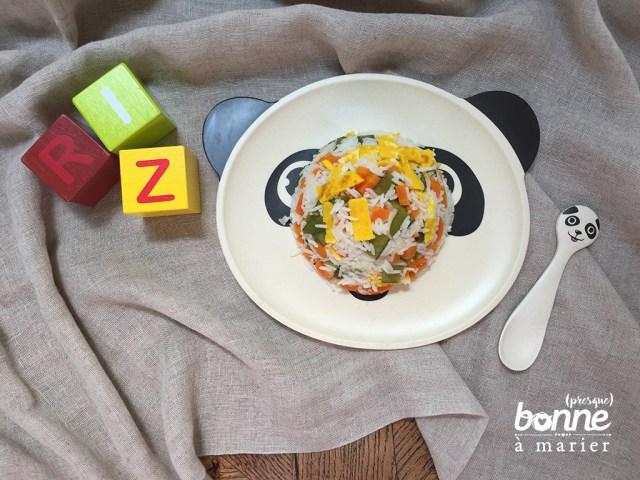 Baby riz cantonais aux pois mange-tout dès 12 mois
