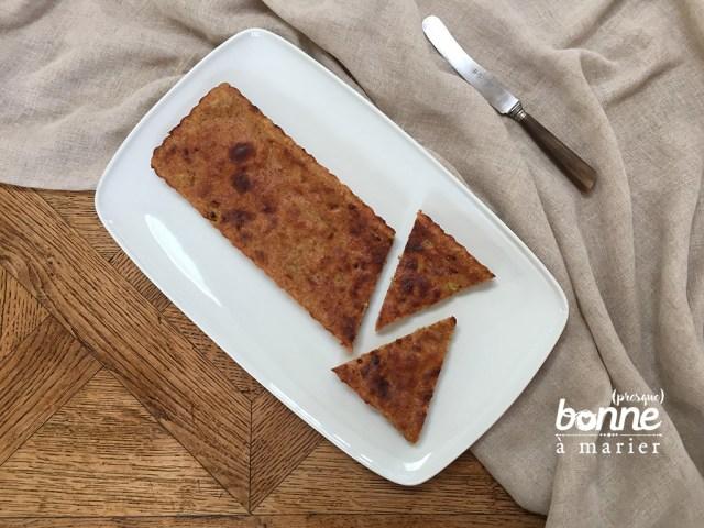 Moelleux diététique sans beurre à la rhubarbe et aux amandes