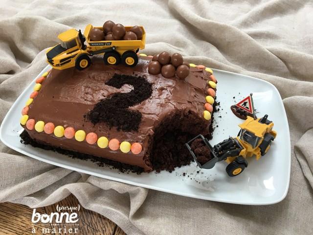 Gâteau chantier au cacao