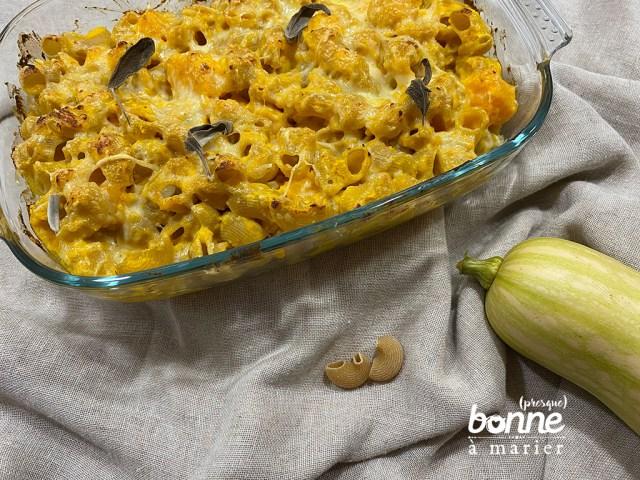 Mac and cheese au butternut et à la sauge