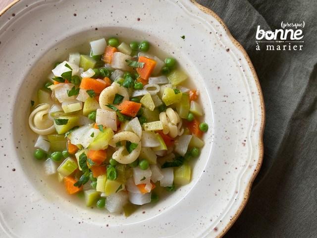 Soupe minestrone printanière