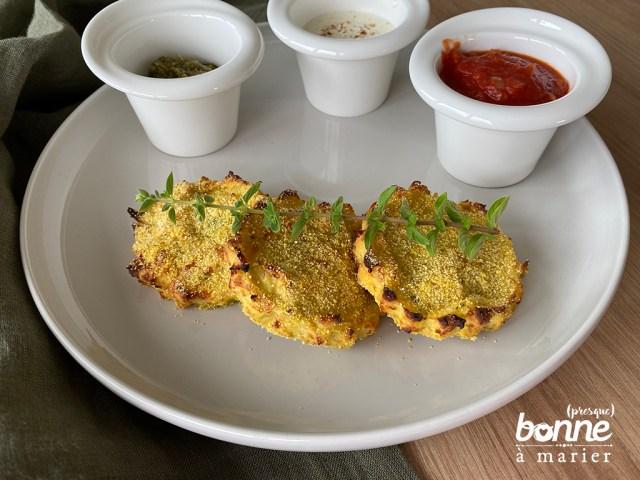 Croquettes de courgettes et polenta au piment d'Espelette