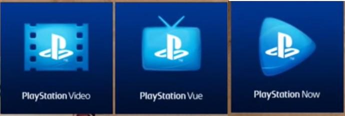 Old PlayStation VUE Logos