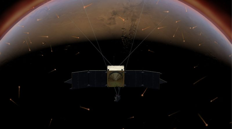 Céu Marciano tornou-se metálico após colisões de Meteoros