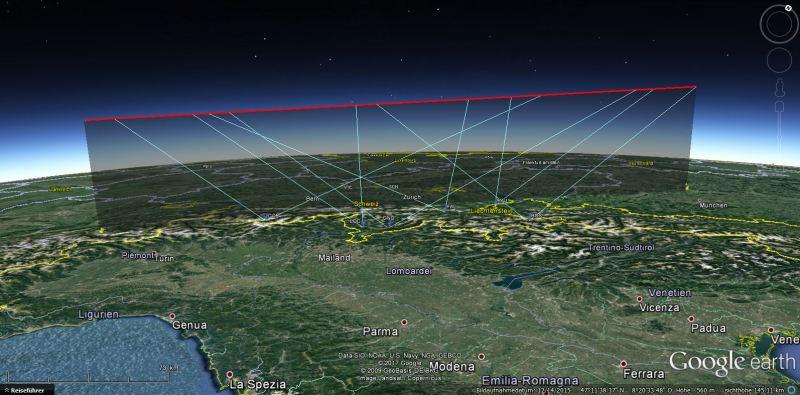 Meteoro Earthgrazer na Europa
