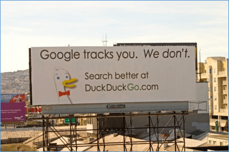 duckduckgo billboard growth hack