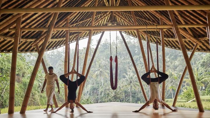 bali resorts antigravity yoga