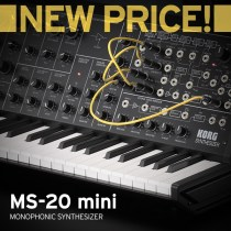 Korg Extends New Price On the Most Sought After Analog Synth, The MS-20 mini