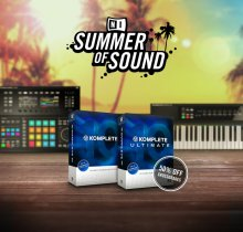 NI's SUMMER OF SOUND special offer includes attractive deals on KOMPLETE and MASCHINE hardware