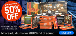 Snare Toontrack EZXs for half price this August