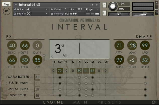 Interval GUI-Engine
