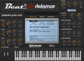 Free Zampler//RX workstation now 64bit for OS X, plus new sound bank & sound shop