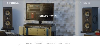 "Focal Shipping New ""Shape Twin"" Monitors"