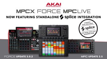 Akai Announces Splice Integration with Force, MPC X, and MPC Live