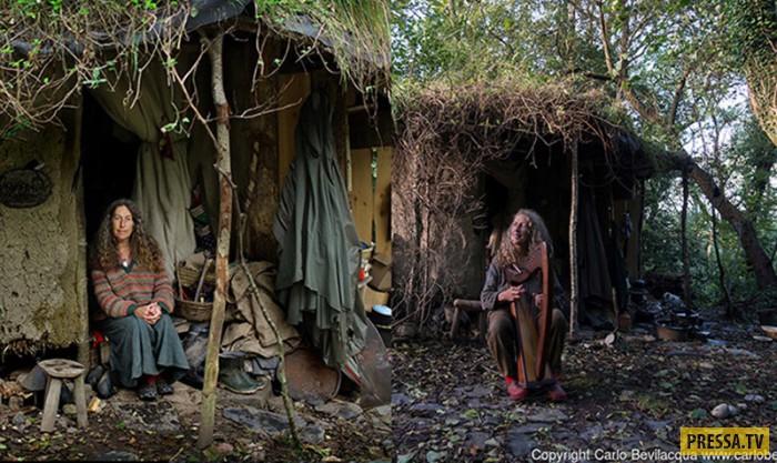 Женщина, которая вот уже 18 лет живёт в землянке посреди леса (5 фото)