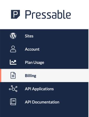 pressable billing menu option