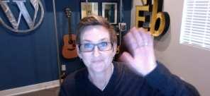 Kori Ashton waving hello to her viewers.
