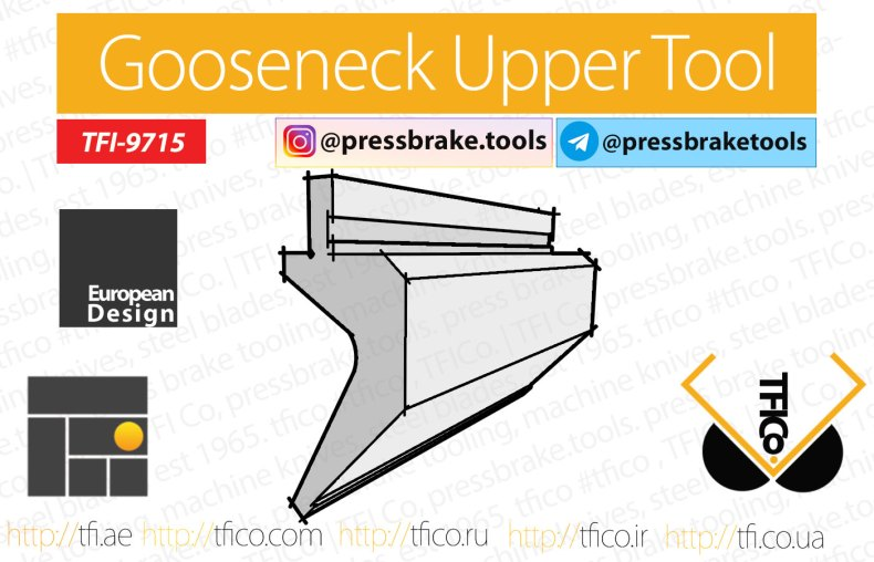 Gooseneck upper, tools, press , brake , tooling, bending , punch,